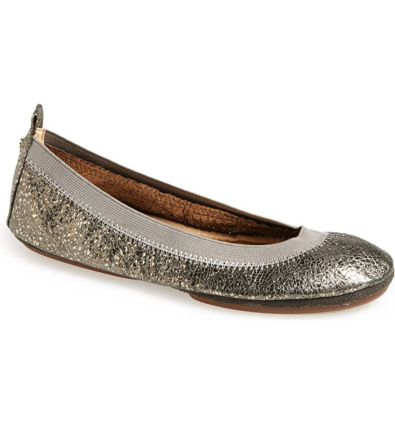 YOSI SAMRA 'Samara' Metallic Foldable Ballet Flat, Main, color, 049
