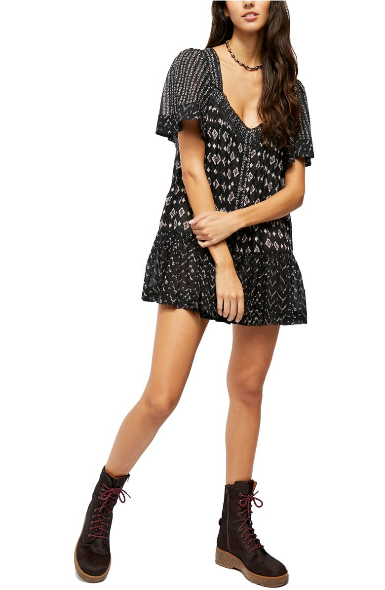 FREE PEOPLE Hearts Desire Print Tunic Dress, Main, color, 001