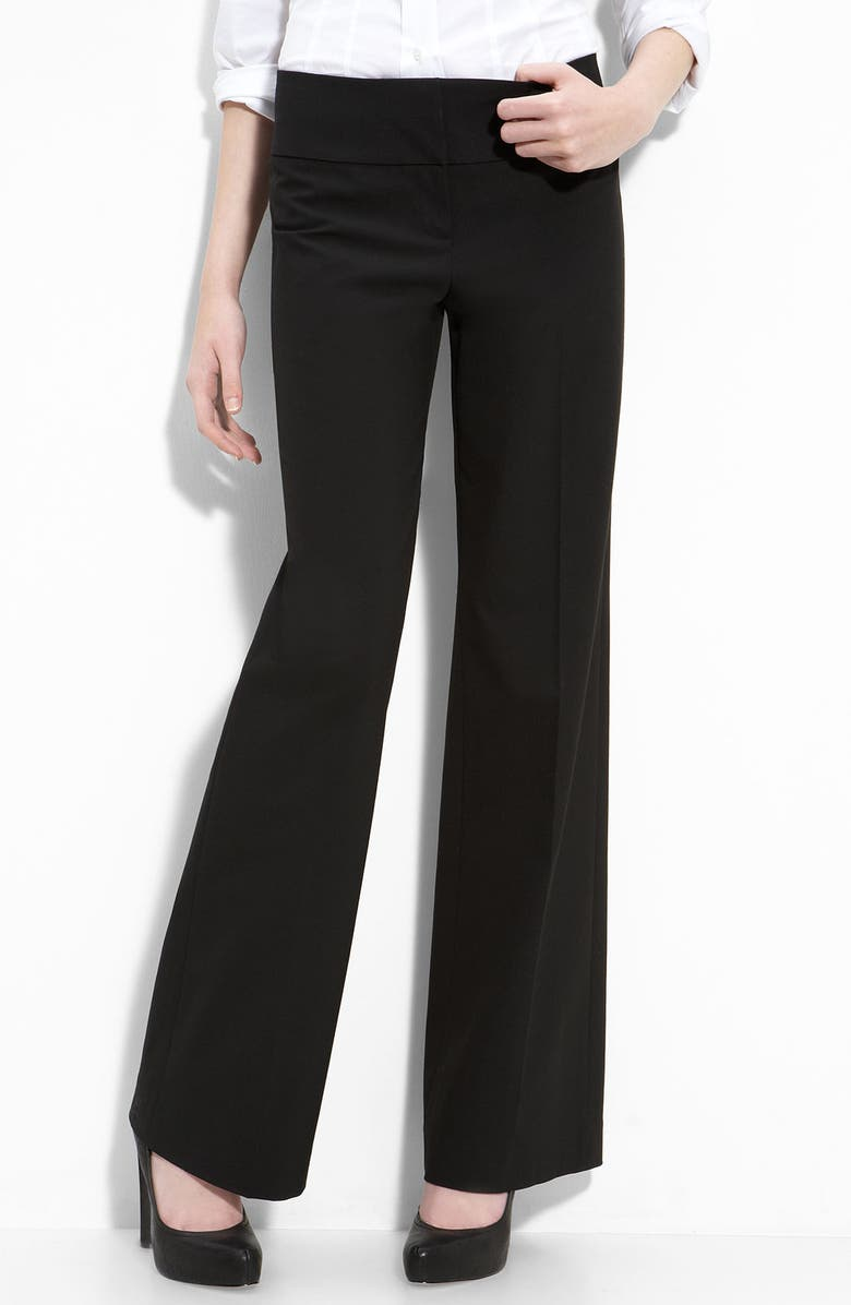 HALOGEN<SUP>®</SUP> 'Taylor' Curvy Fit Trousers, Main, color, 001