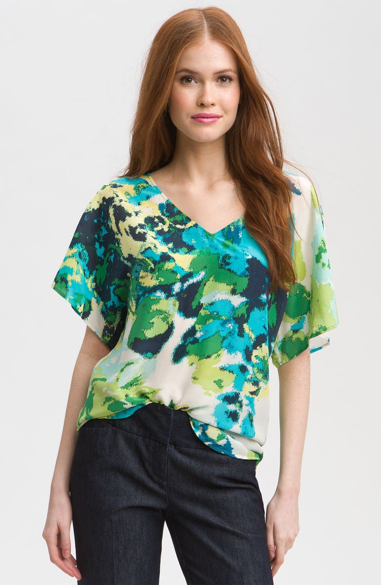 HALOGEN<SUP>®</SUP> Relaxed V-Neck Top, Main, color, 440