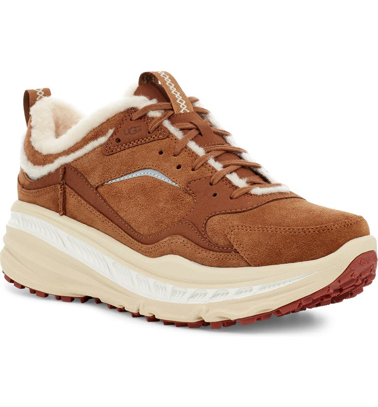 UGG<SUP>®</SUP> CA805 Spill Seam Sneaker, Main, color, CHESTNUT SUEDE