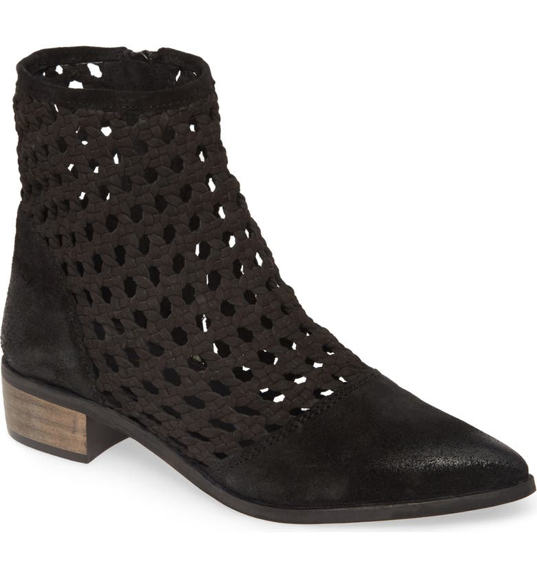 REBELS Rhea Bootie, Main, color, BLACK LEATHER