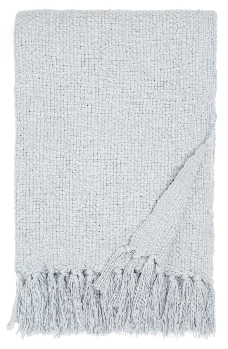 NORDSTROM Woven Cotton Throw Blanket, Main, color, BLUE PEARL