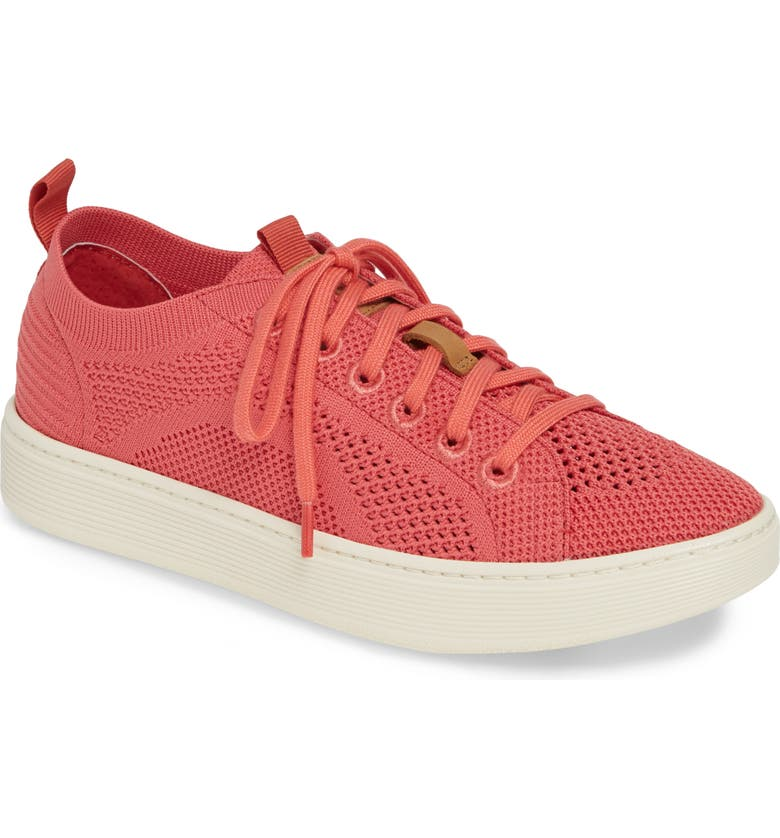 SÖFFT Somers Knit Sneaker, Main, color, ROSE CORAL