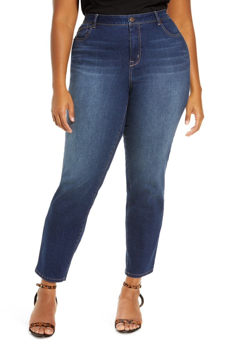 1822 DENIM 1822 High Waist Straight Leg Jeans, Main, color, ZIGGY