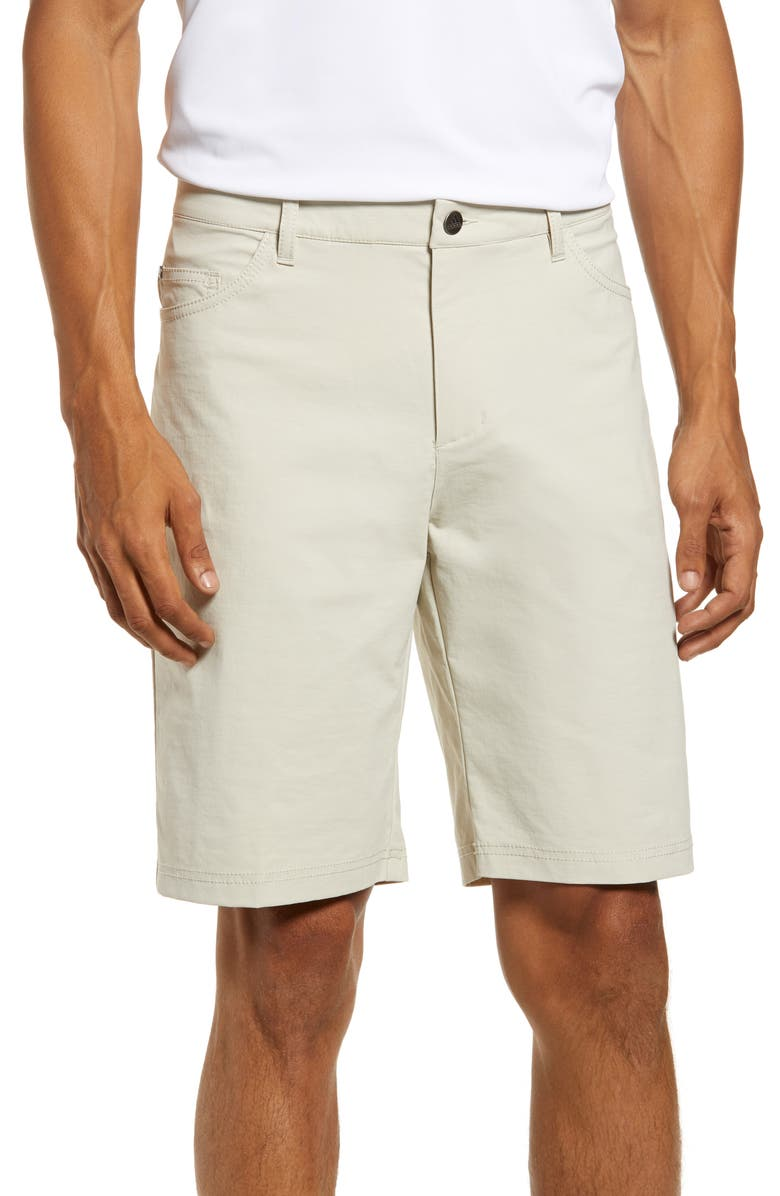 ADIDAS GOLF Go-To Water Repellent Five Pocket Shorts, Main, color, BLISS