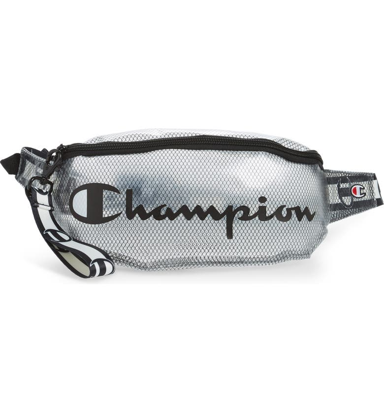 CHAMPION Prime Logo Clear Belt Bag, Main, color, 001