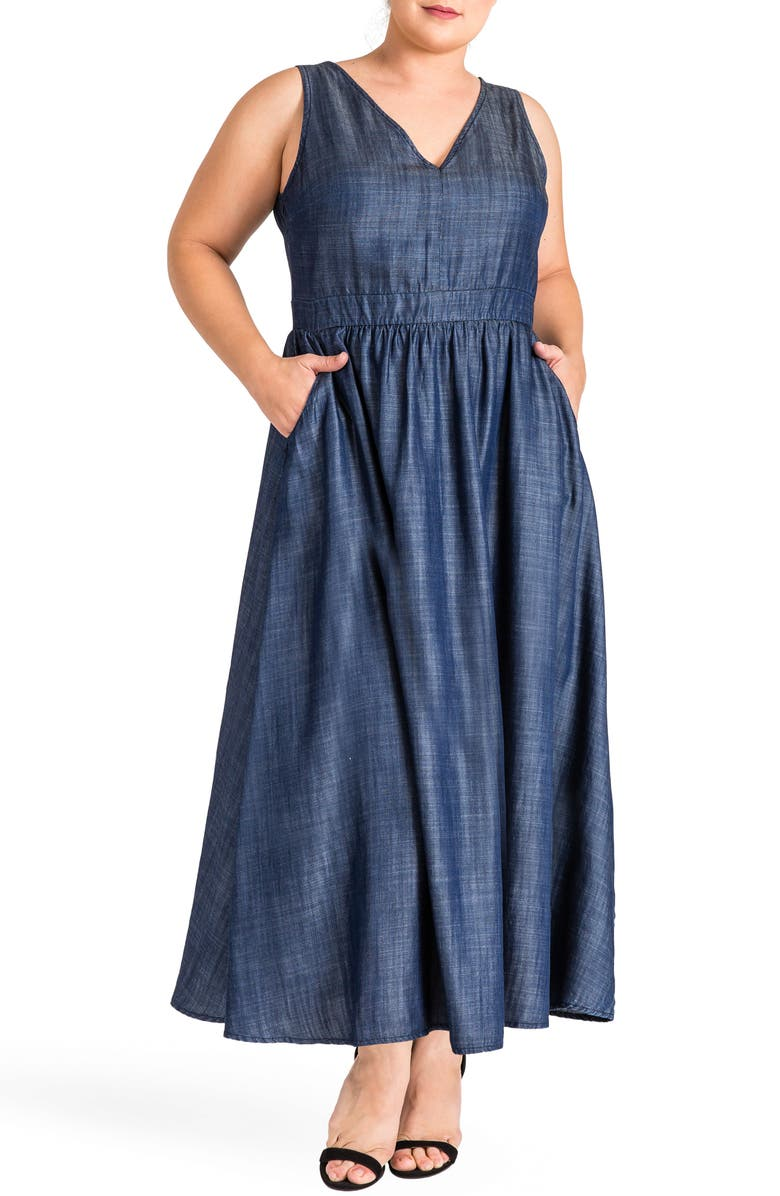STANDARDS & PRACTICES Nimah Maxi Dress, Main, color, Dark Blue