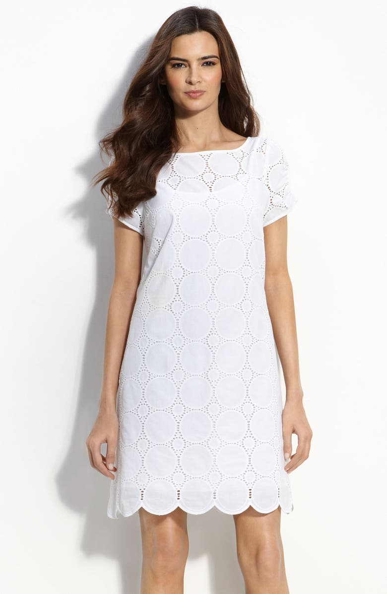 LAUNDRY BY SHELLI SEGAL Eyelet Shift, Main, color, 140