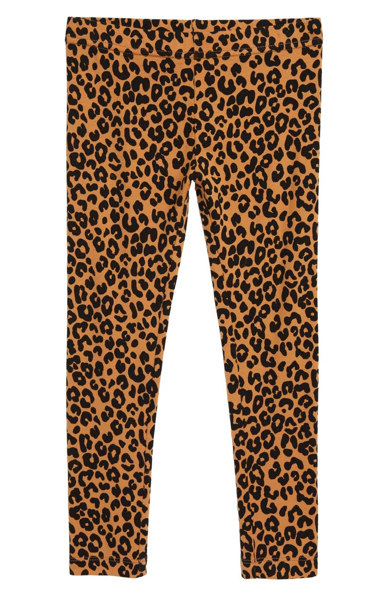 TUCKER + TATE Kids' Core Print Leggings, Main, color, TAN BISCUIT LEOPARD