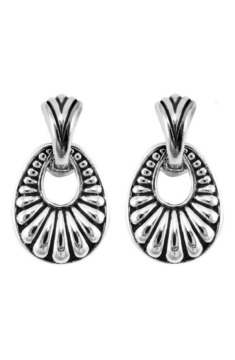 LAGOS Sterling Silver Caviar Oval Drop Earrings, Main, color, SILVER