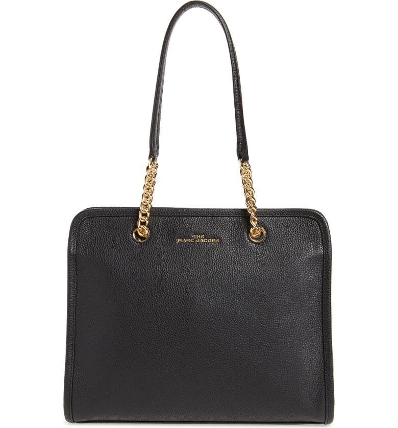 THE MARC JACOBS The Leather Tote, Main, color, 001