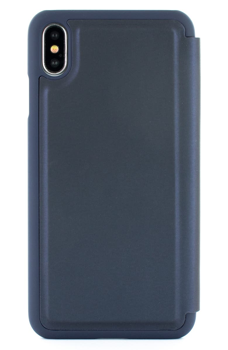 TED BAKER LONDON Faux Leather iPhone X/Xs, Xs Max & XR Folio Case, Main, color, 410