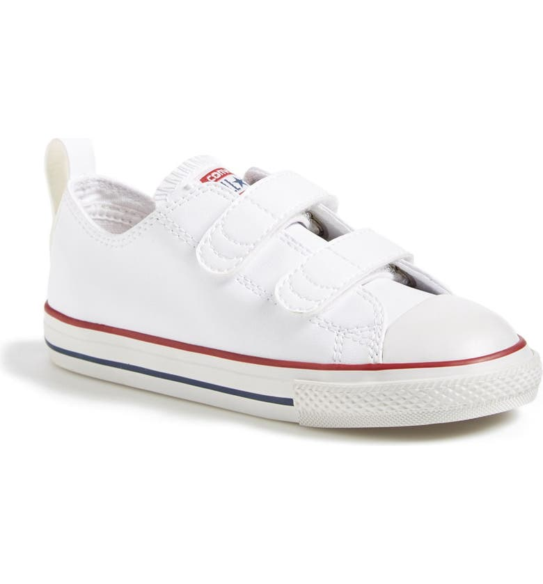 CONVERSE Chuck Taylor<sup>®</sup> All Star<sup>®</sup> 2V Double Strap Faux Leather Sneaker, Main, color, WHITE