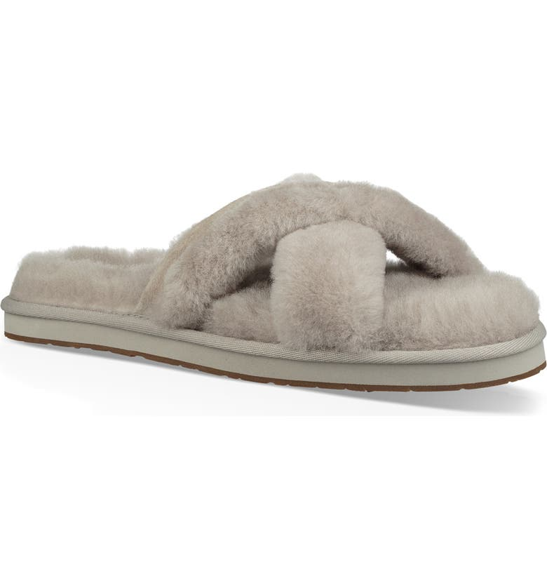 UGG<SUP>®</SUP> Abela Genuine Shearling Flip Flop, Main, color, 020