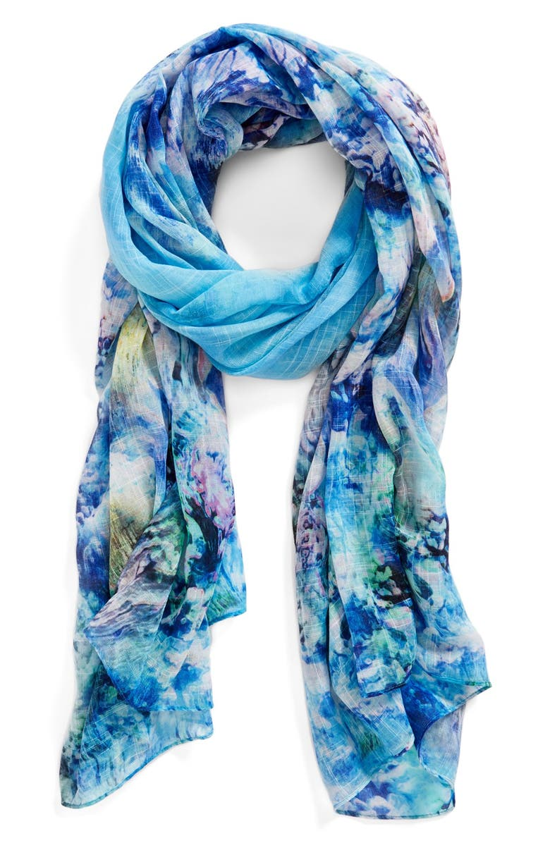 ECHO 'Coral Reef' Wrap, Main, color, TURQUOISE