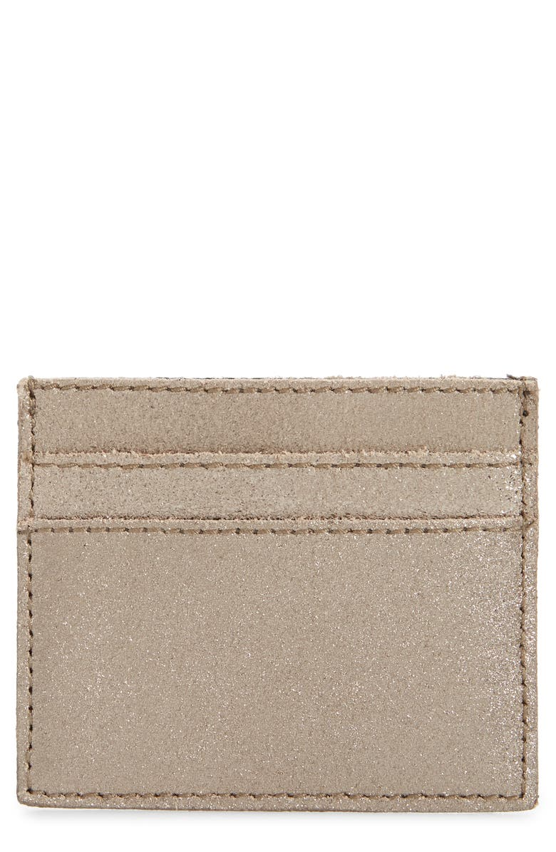 MADEWELL The Metallic Gold Leather Card Case, Main, color, 715