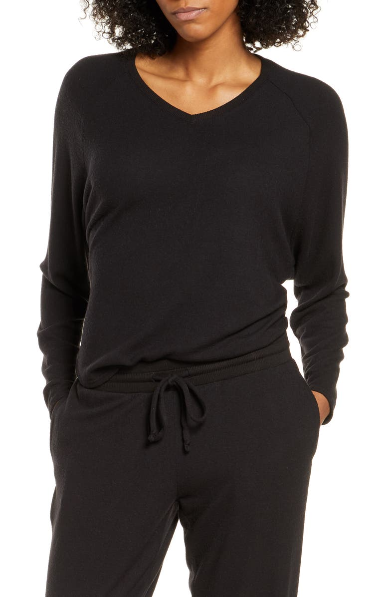 NORDSTROM Relaxed Lounge Sweater, Main, color, 001