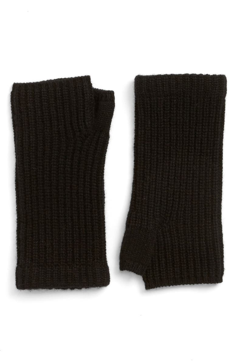 RAG & BONE 'Alexis' Cashmere Fingerless Gloves, Main, color, 001