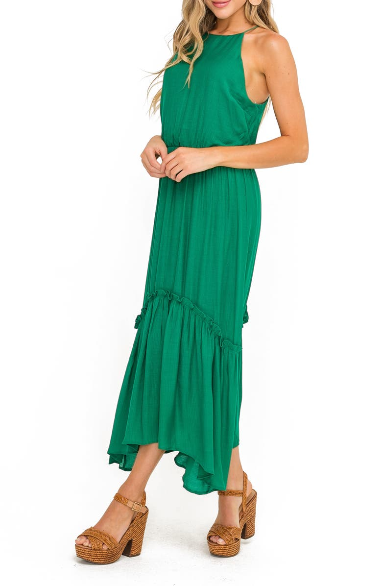 ALL IN FAVOR Halter Maxi Dress, Main, color, 346