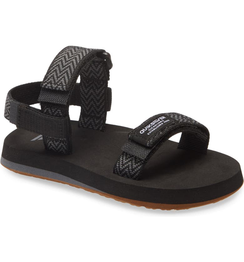 QUIKSILVER Quicksilver Monkey Caged Sandal, Main, color, BLACK/ GREY/ BLACK