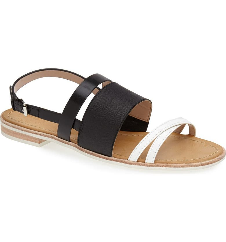 FRENCH CONNECTION 'Hallie' Sandal, Main, color, BLACK/ WINTER WHITE