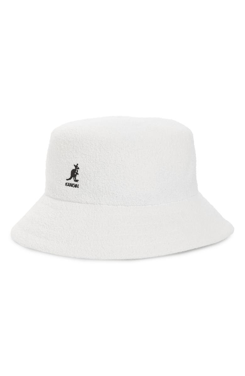 KANGOL Bermuda Bucket Hat, Main, color, WHITE