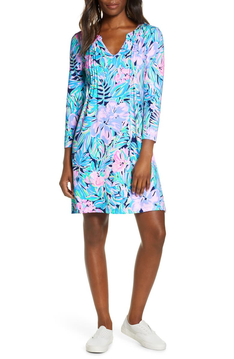 LILLY PULITZER<SUP>®</SUP> Aubrey UPF 50+ Shift Dress, Main, color, 400
