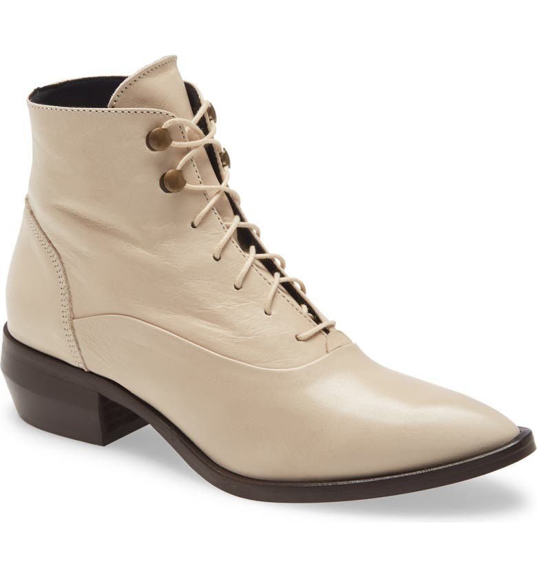 INTENTIONALLY BLANK West Leather Bootie, Main, color, CLOUD LEATHER