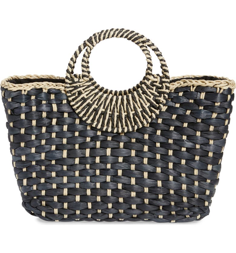 NORDSTROM Norah Woven Tote, Main, color, 001