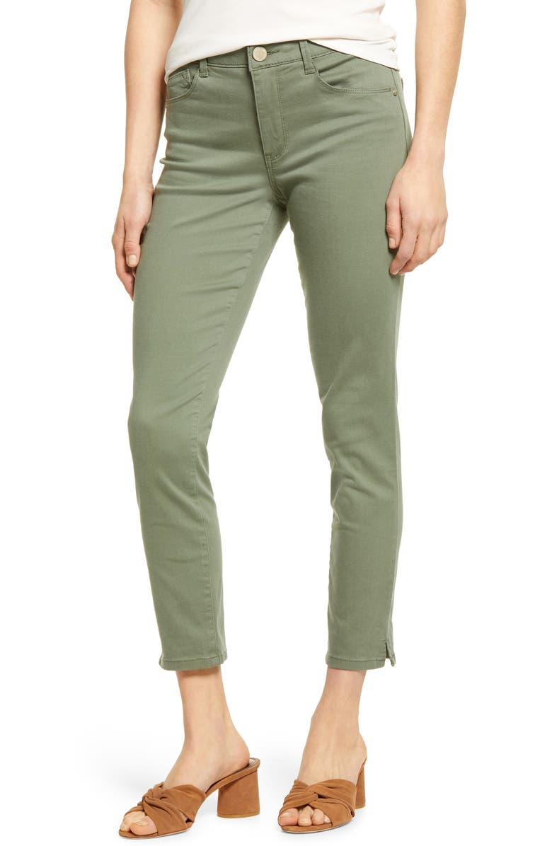 WIT & WISDOM Ab-Solution High Waist Ankle Skinny Pants, Main, color, LILY PAD