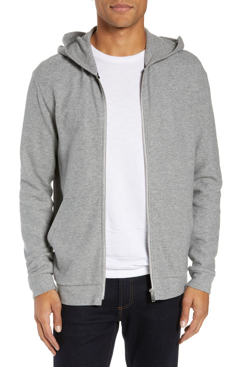 THEORY Essential Zip Hoodie, Main, color, GREY HTHR