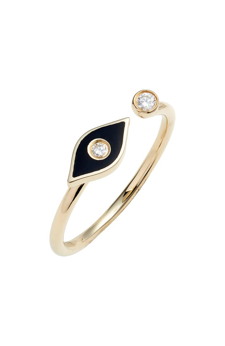 EF COLLECTION Evil Eye Diamond Open Ring, Main, color, 710
