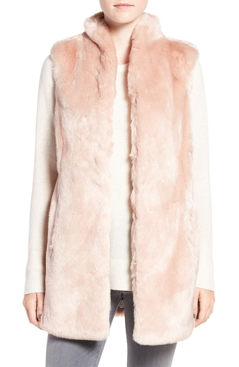 ELIZA J Faux Mink Fur Vest, Main, color, 684