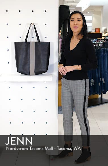 Paint Stripe Transport Leather Tote, sales video thumbnail