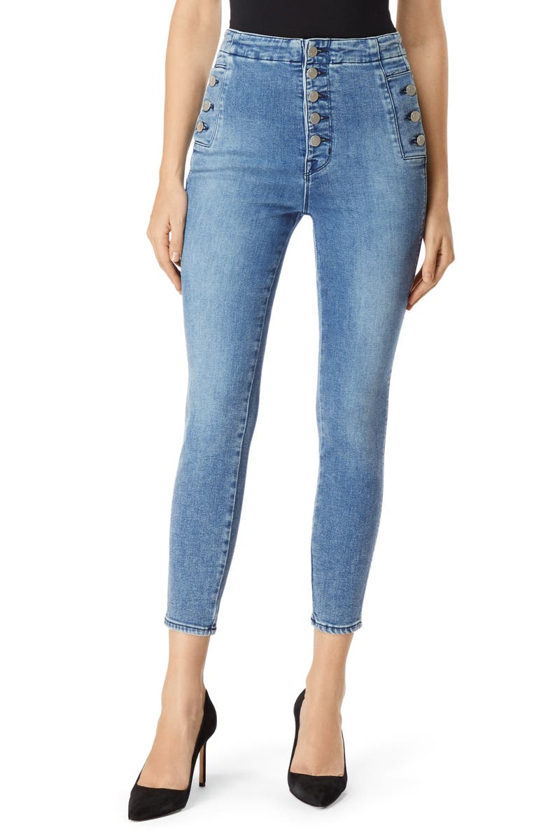J BRAND Natasha Sky High Crop Super Skinny Jeans, Main, color, 454