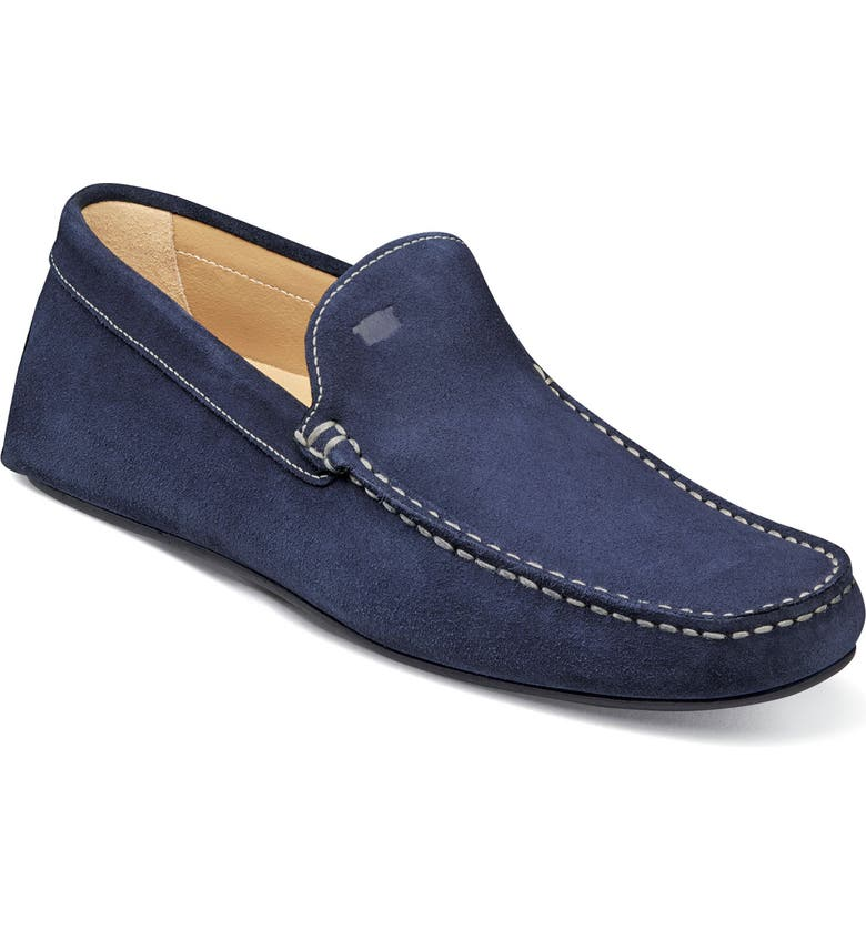FLORSHEIM Navono Driving Moccasin, Main, color, INDIGO LEATHER