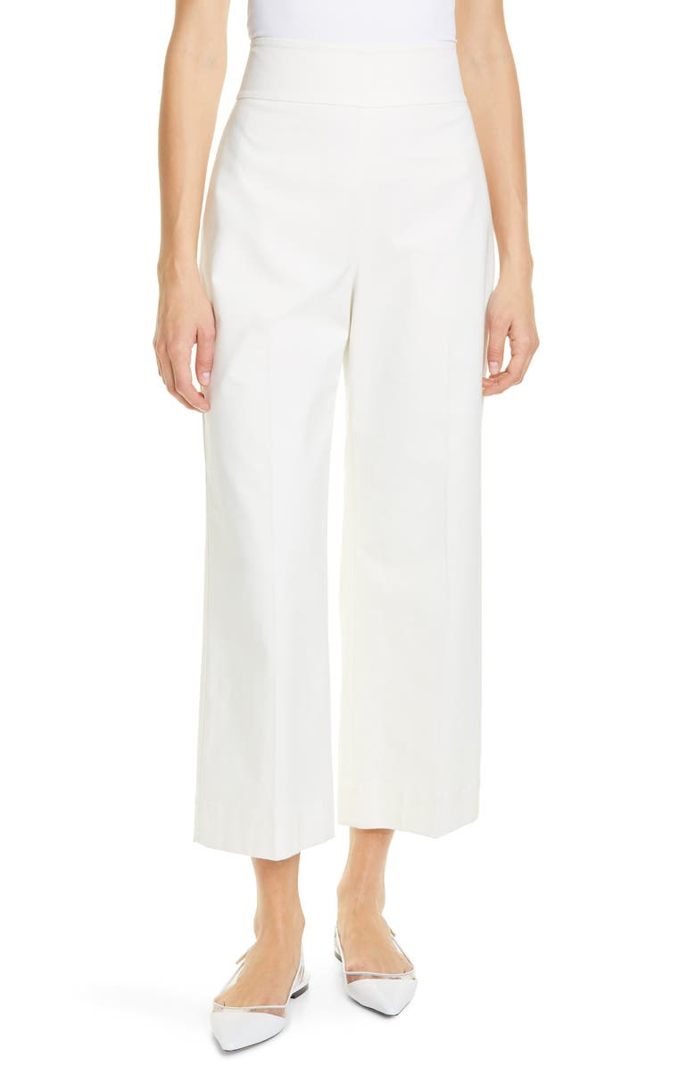 TAILORED BY REBECCA TAYLOR Crop Suit Pants, Main, color, SNOW