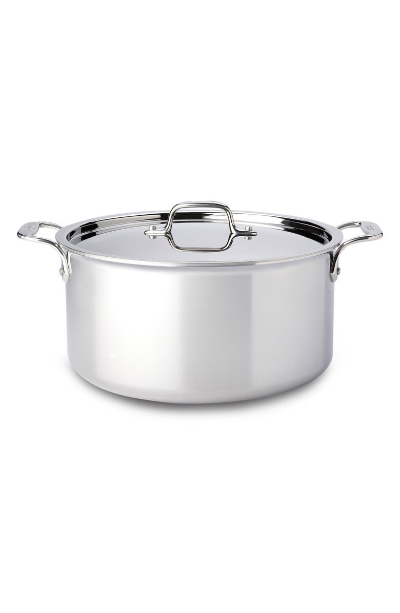 ALL-CLAD 8-Quart Stainless Steel Stockpot, Main, color, 040