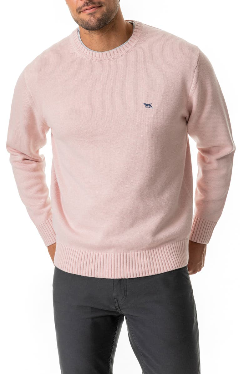 RODD & GUNN Crewneck Sweater, Main, color, CORAL PINK