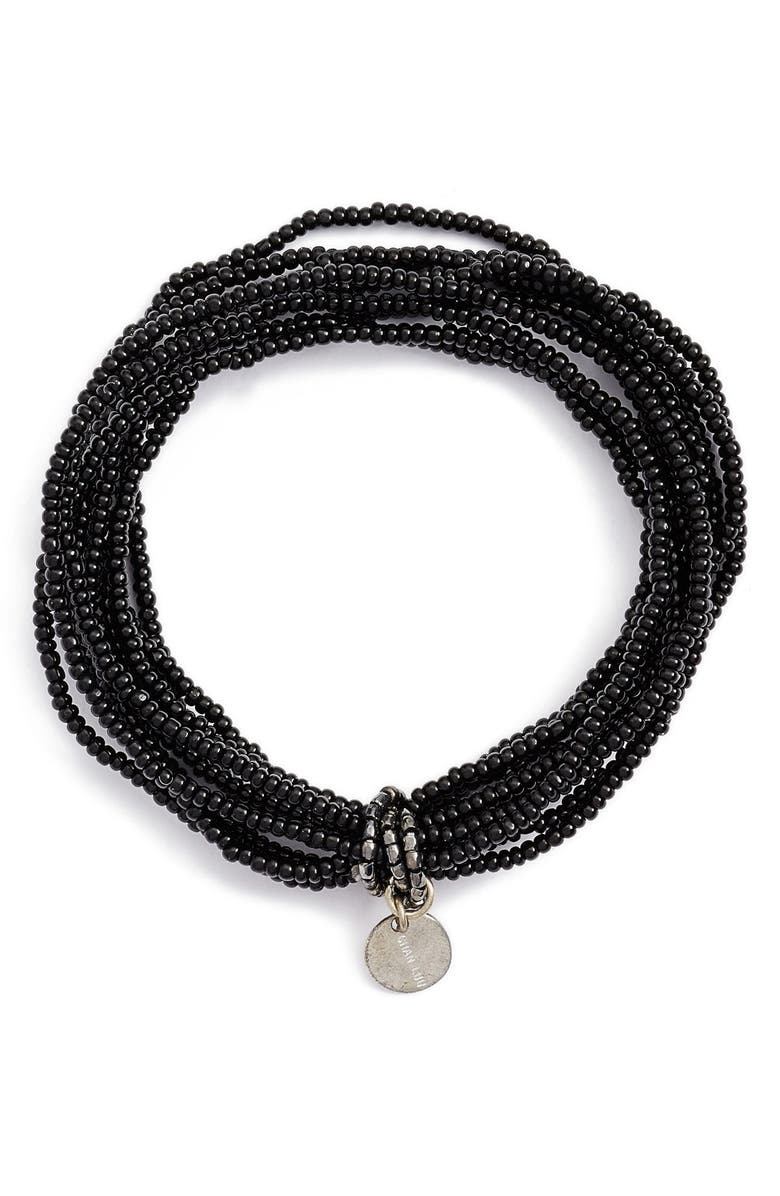 CHAN LUU Solid Seed Bead Stretch Bracelet, Main, color, 001