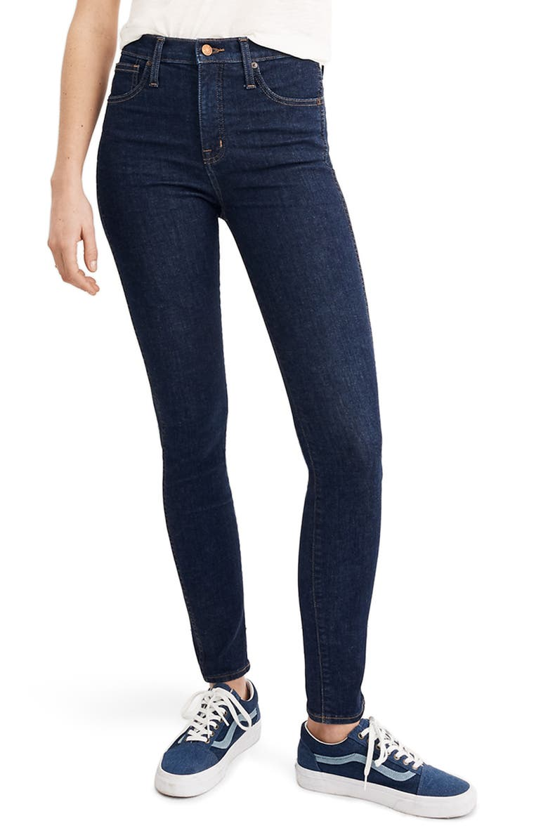 MADEWELL 10-Inch High Waist Skinny Jeans, Main, color, LUCILLE WASH