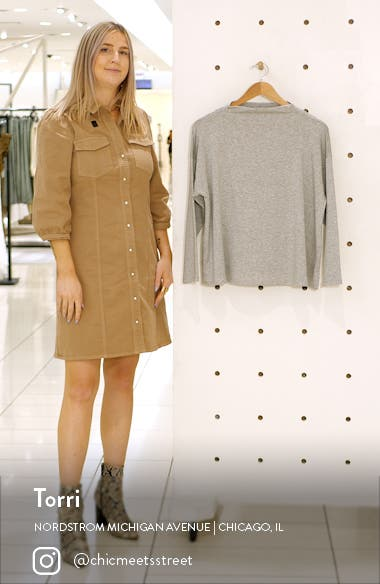 Stretch Terry Funnel Neck Box Top, sales video thumbnail