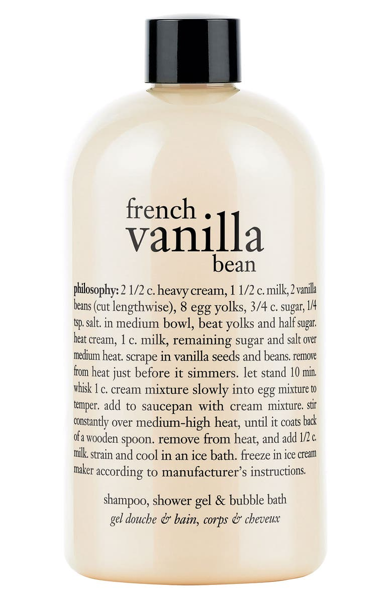 PHILOSOPHY french vanilla bean shampoo, shower gel & bubble bath, Main, color, 000
