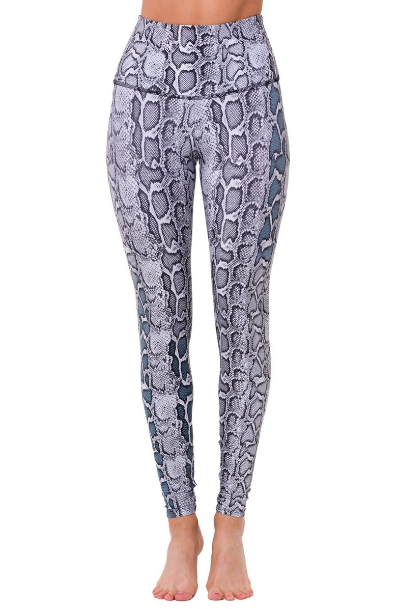 ONZIE Graphic High Rise Leggings, Main, color, 011