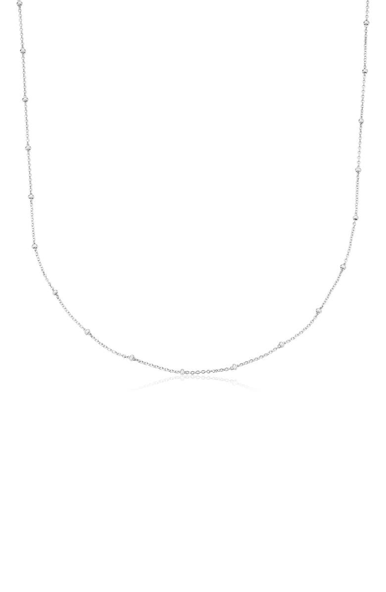 MONICA VINADER 16-Inch Fine Beaded Chain, Main, color, SILVER