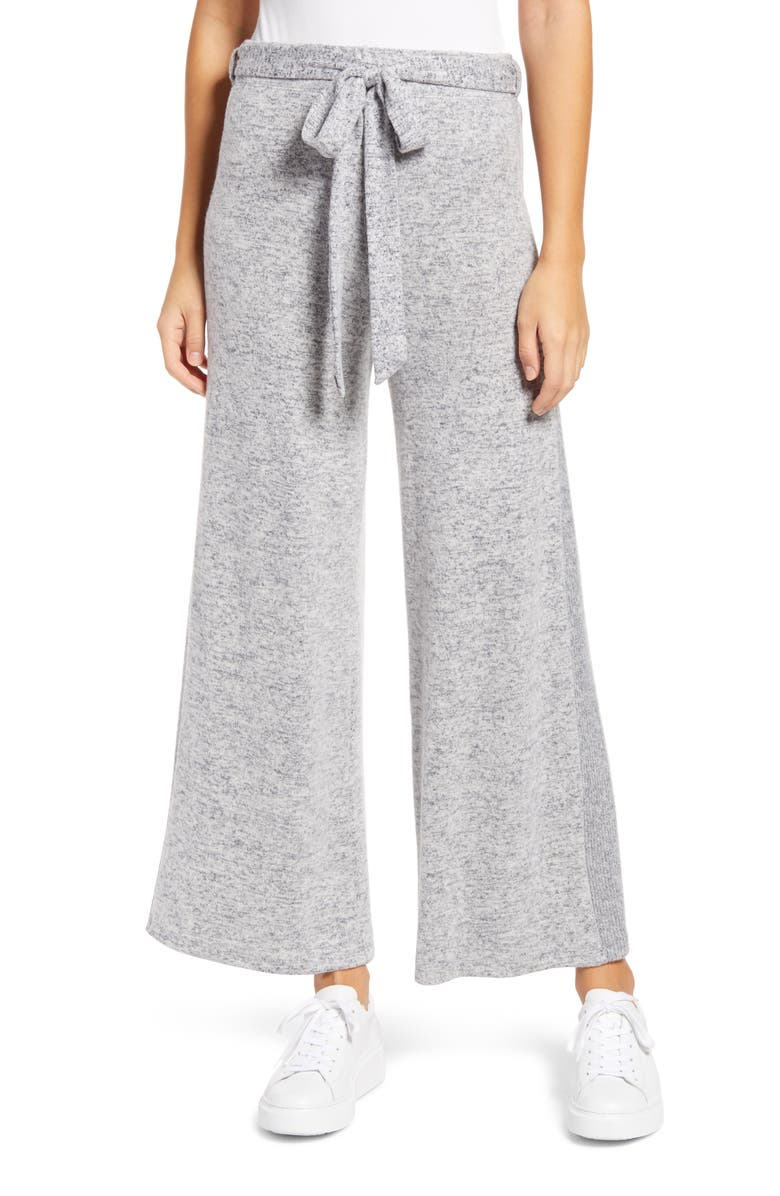 BOBEAU Brushed Knit Wide Leg Pants, Main, color, DEW NIGHTFALL