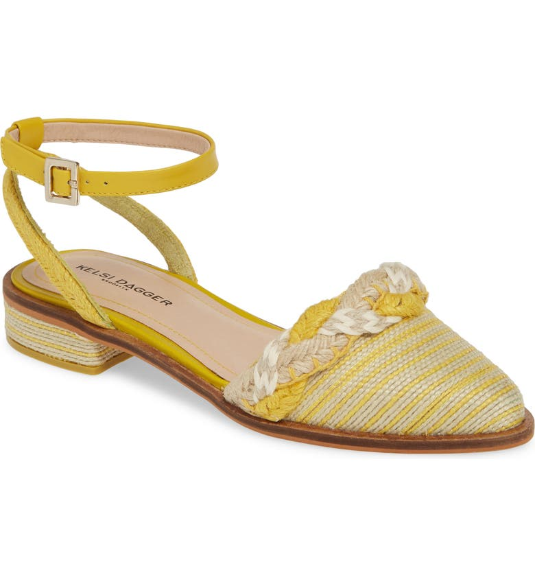 KELSI DAGGER BROOKLYN Annalese Ankle Strap Flat, Main, color, TULIP