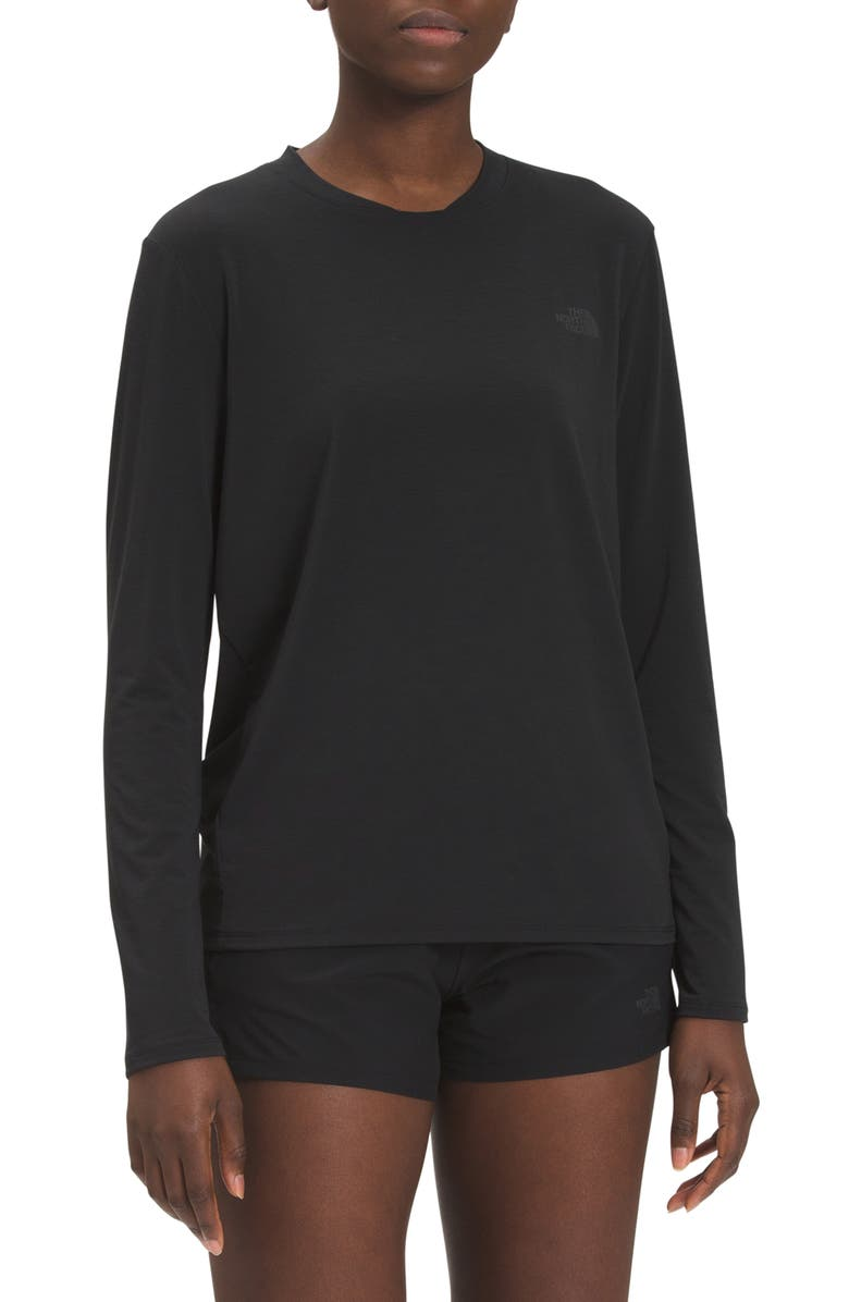 THE NORTH FACE Wander Performance T-Shirt, Main, color, TNF BLACK