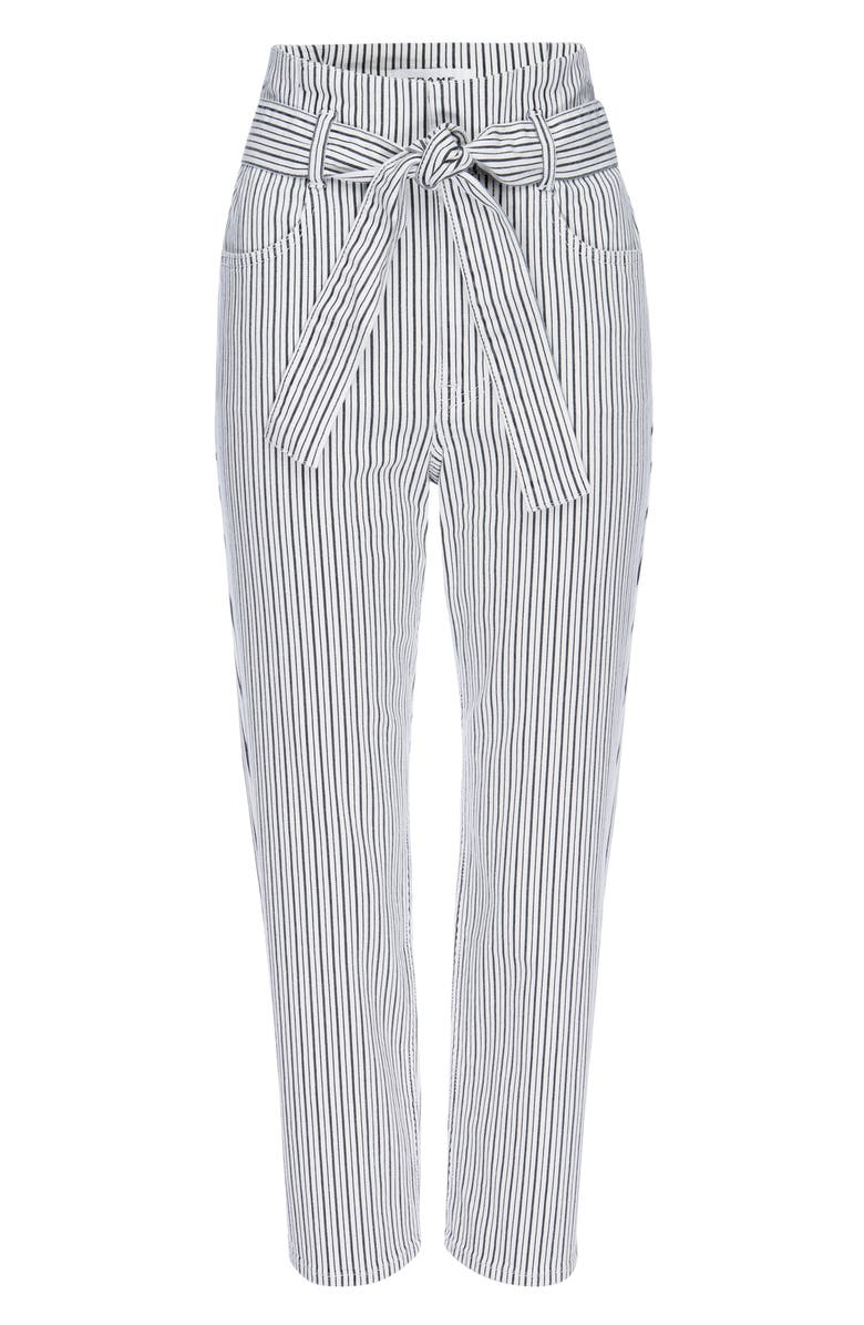 FRAME Belted Pegged Jeans, Main, color, BLANC MULTI